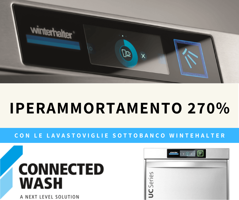 IPERAMMORTAMENTO 270% CON LAVASTOVIGLIE SOTTOBANCO WINTERHALTER
